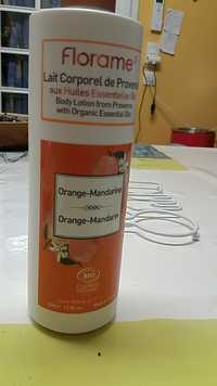 FLORAME - Orange-mandarine - Lait corporel de Provence