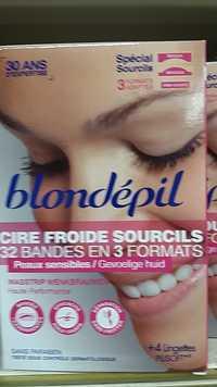 BLONDÉPIL - Cire froide sourcils