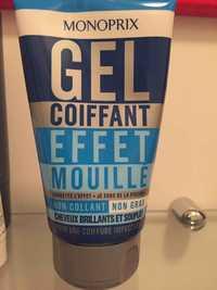 Monoprix - Gel coiffant effet mouillé