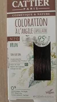 Cattier - Coloration à l'argile n°20 brun
