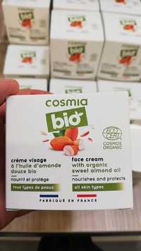 Cosmia - Crème visage à l'huile d'amande douce bio