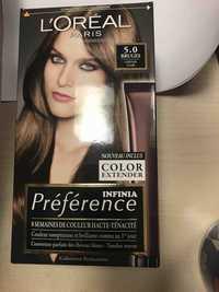 L'Oréal - Préférence infinia - Coloration permanente 5.0 châtain clair