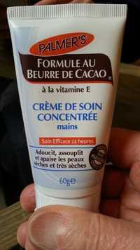PALMER'S - Formule au beurre de cacao - Crème de soin concentrée mains