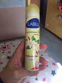 LABELL - Vanille des îles - Déodorant
