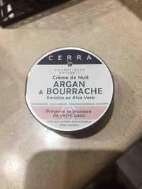 Cerra - Argan & Bourrache - Crème de nuit