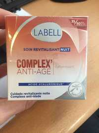 LABELL - Complex anti-âge - Soin revitalisant nuit