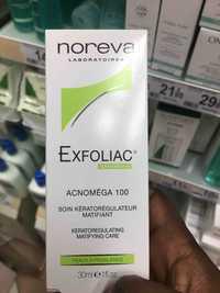 NOREVA - Exfoliac acnoméga 100 - Soin kératorégulateur matifiant