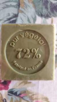 CHEMIN DU SOIN - Pure végétal 72% - Savon cube olive