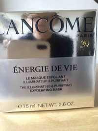 Lancôme - Énergie de vie - Le masque exfoliant