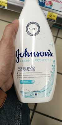 JOHNSON'S - Clean & protect 3 - Gel de banho salt marina