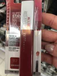 Maybelline - Super stay - Encre à lèvres matte