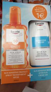 Eucerin - Coffret sun spray transparent SPF 50 + after sun crème-gel