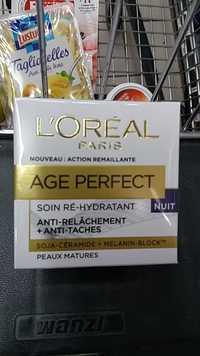 L'Oréal - Age Perfect - Soin ré-hydratant, anti relâchement, anti-tâche
