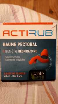 Actirub - Baume pectoral