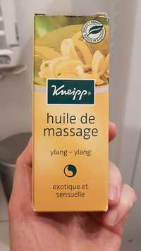 Kneipp - Huile de massage ylang ylang