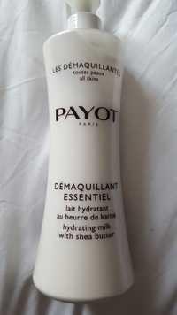 Payot - Démaquillant essentiel - Lait hydratant au beurre de karité