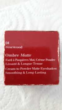 Clarins - Ombre matte - Fard à paupières mat 04 rosewood
