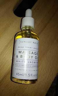 Sunday rain - Huile de massage au jasmin blanc