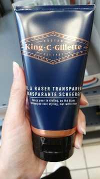 KING C GILLETTE - Gel à raser transparent