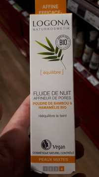 Logona - Fluide de nuit -  Affineur de pores logona bambou & hamamélis bio