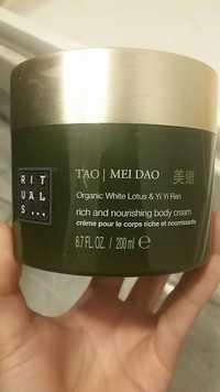 RITUALS - Tao mei dao - Crème pour le corps riche et nourrissante