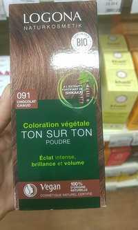 Logona - Ton sur ton poudre - Coloration végétale 091 chocolat chaud