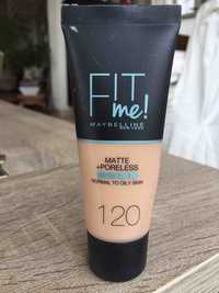 Maybelline - Fit me ! matte + poreless - Fond de teint 120 beige rose