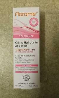FLORAME - Tolérance - Crème hydratante apaisante