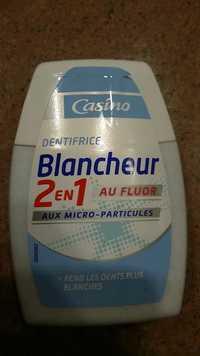 CASINO - Dentifrice blancheur 2 en 1