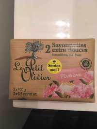 LE PETIT OLIVIER - Pivoine - 2 Savonnettes extra douces