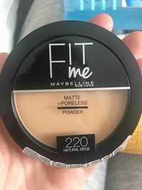 Maybelline - Fit me - Matte + poreless powder 220 natural beige