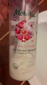 Melvita - Nectar de roses - Lait fraîcheur démaquillant