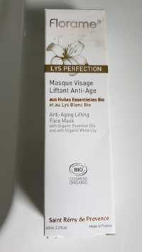 FLORAME - Masque visage liftant anti-age bio