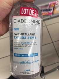 DIADERMINE - Eau micellaire express 3 en 1