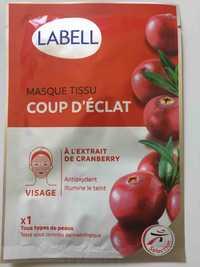 LABELL - Masque tissu coup d'éclat - A l'extrait de cranberry