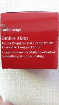 Clarins - Ombre matte - Fard à paupières mat - 01 nude beige