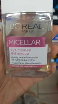 L'ORÉAL - Micellar - Eye make-up gel remover