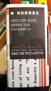 KORRES - Vetiver root green tea cedarwood - Eau de toilette
