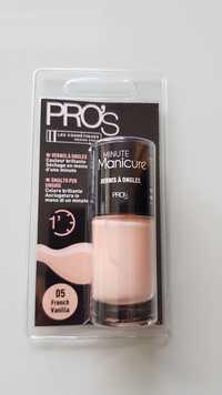 LES COSMÉTIQUES DESIGN PARIS - Pro's Minute manicure - Vernis à ongles 05 french vanilla