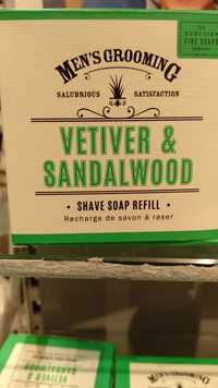 THE SCOTTISH FINE SOAPS COMPANY - Vetiver & Sandalwood - Recharge de savon à raser