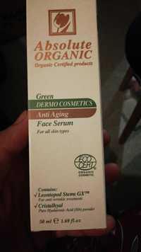 Absolute Organic - Green dermo cosmetics - Anti aging face serum