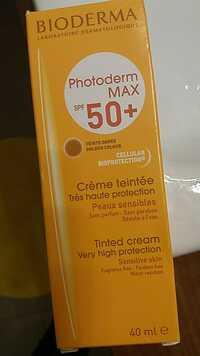 Bioderma - Photoderm Max spf 50+ - Crème teintée