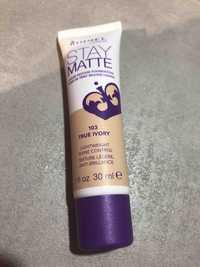 RIMMEL - Stay matte - Fond de teint mousse liquide 103 true ivory