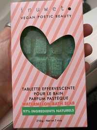 INUWET - Tablette effervescente pour le bain - Parfum pastèque