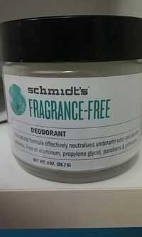 Schmidt's - Déodorant fragrance-free