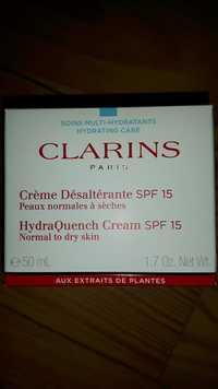 Clarins - Soins multi-hydratants - Crème désaltérante SPF 15