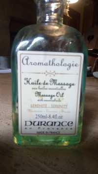 DURANCE - Aromathologie - Huile de massage