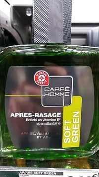 MARQUE REPÈRE - Carré Homme, Soft Green - Après rasage
