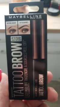 MAYBELLINE - Tattoo brow - Encre à sourcils peel off