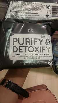 Primark - PS Purify & Detoxify - Lingettes nettoyantes pour le visage au charbon